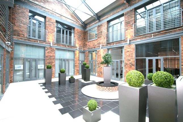 The atrium at West Midlands House, Willenhall, Wolverhampton.
